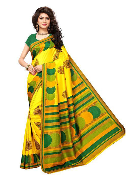 Multicolor Woven Cotton Silk Saree With Blouse -E5 - Simpal Boutique