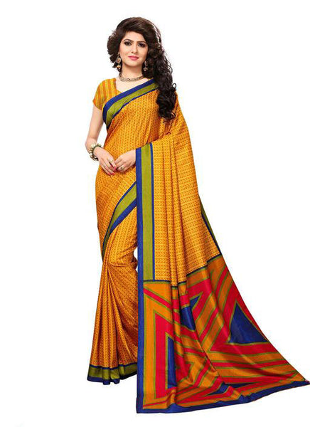 Multicolor Woven Cotton Silk Saree With Blouse -E6 - Simpal Boutique