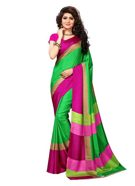 Multicolor Woven Cotton Silk Saree With Blouse -E7 - Simpal Boutique