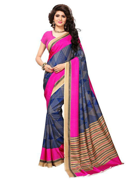 Multicolor Woven Cotton Silk Saree With Blouse -E8 - Simpal Boutique