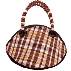 Ecofriendly hand make Abaca Pilli Tote Bag - Maroon - Simpal Boutique