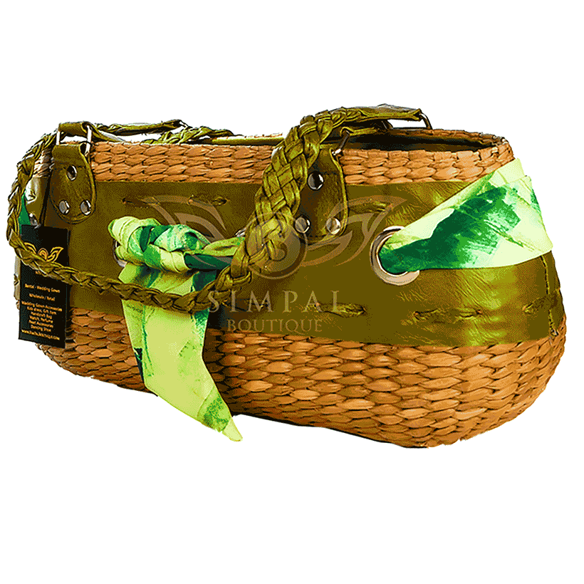 Ecofriendly hand make Abaca Yvoune Tote Bag - Green - Make Me Smile Offer - Simpal Boutique