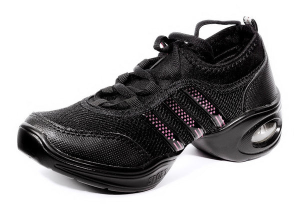 Help Me Dance - Dancing Shoe Sneakers for Zumba and Trainer - KVE-815-Black - Simpal Boutique