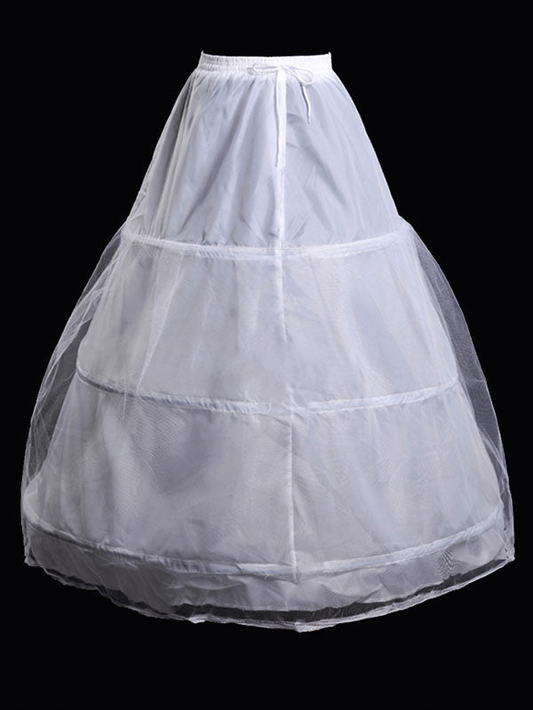 Petticoat Wedding White Skirt Slip 3 Hoop Bridal Crinoline - Simpal Boutique