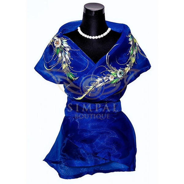 Filipiniana Wrap Around - Navy Blue -  Filipinana - Adults - Simpal Boutique