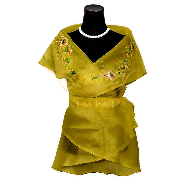 Filipiniana Wrap Around - Yellow - Simpal Boutique