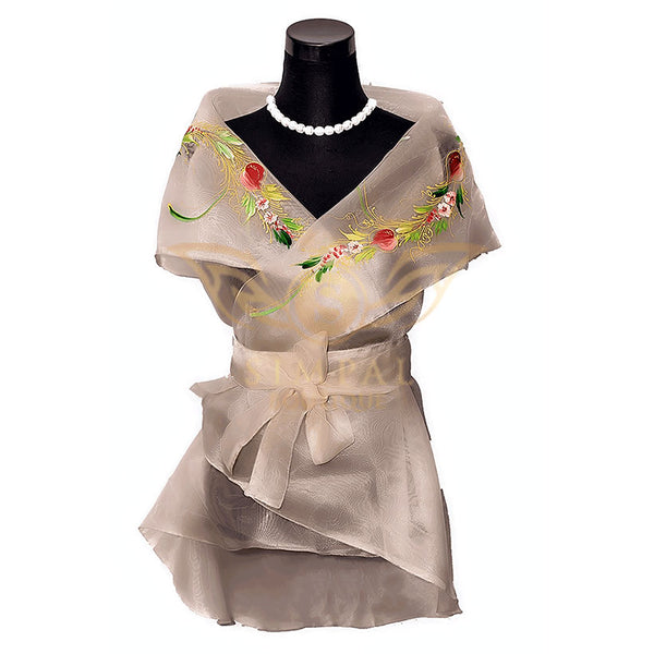 Filipiniana Wrap Around - Pinya -  Filipinana - Adults - Simpal Boutique