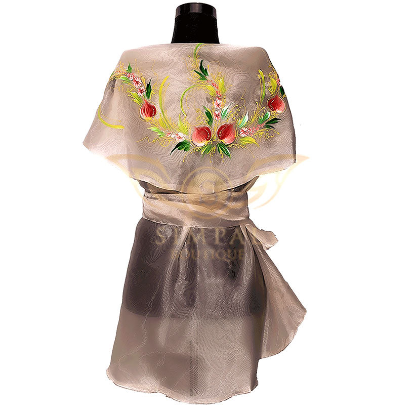 Filipiniana Wrap Around - Pinya - Simpal Boutique