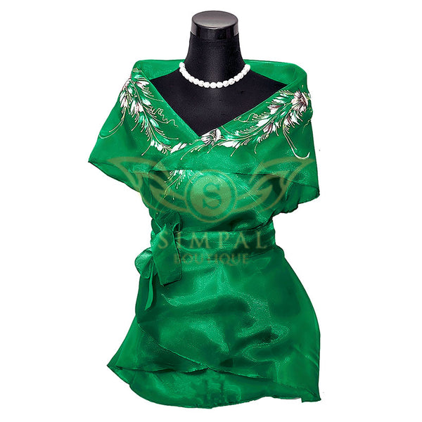 Filipiniana Wrap Around - Green -  Filipinana - Adults - Simpal Boutique
