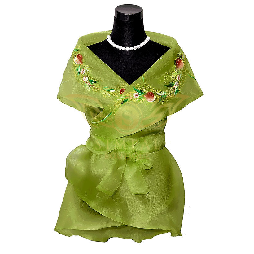 Filipiniana Wrap Around - Yellow Green - Simpal Boutique