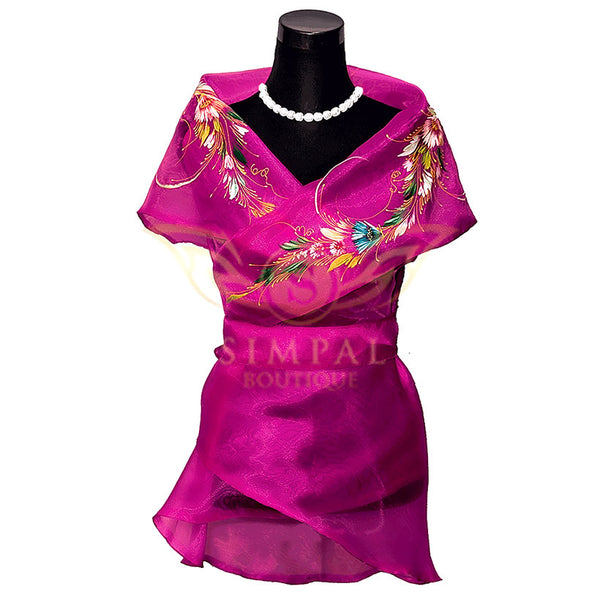 Filipiniana Wrap Around - Pink -  Filipinana - Adults - Simpal Boutique