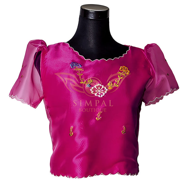 Kimona - Fuchsia Pink -  Filipinana - Adults - Simpal Boutique