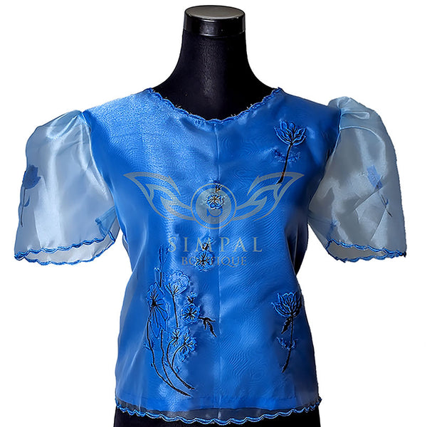 Kimona - Sky Blue -  Filipinana - Adults - Simpal Boutique