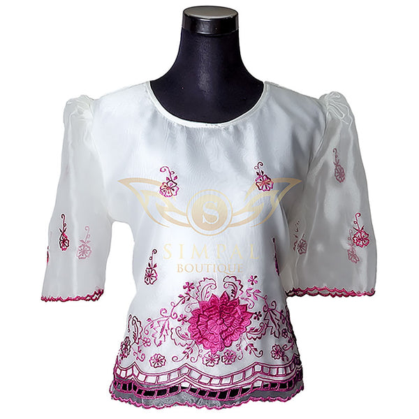 Kimona - Pink Cutwork -  Filipinana - Adults - Simpal Boutique