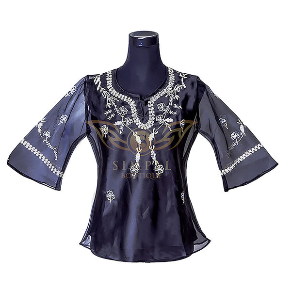 Ladies Barong - Black -  Filipinana - Adults - Simpal Boutique