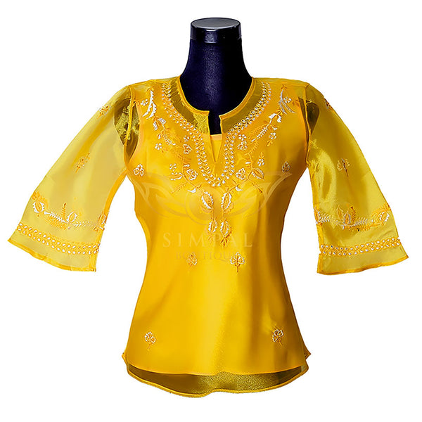 Ladies Barong - Gold -  Filipinana - Adults - Simpal Boutique