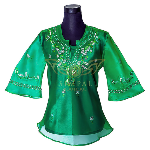 Ladies Barong - Green -  Filipinana - Adults - Simpal Boutique