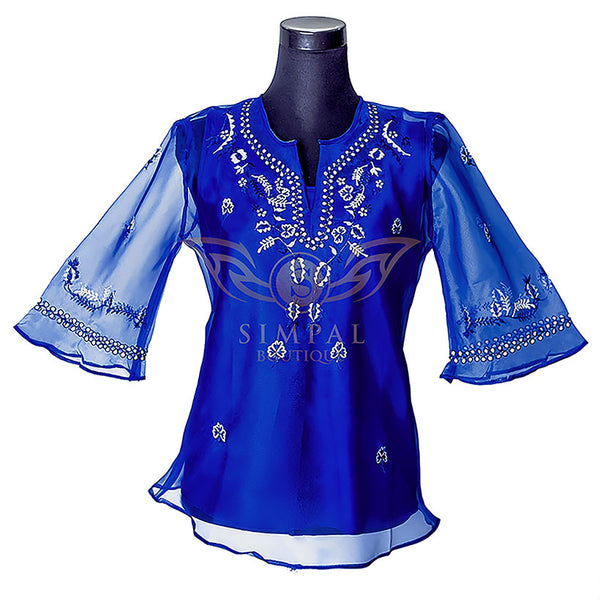 Ladies Barong - Navy Blue -  Filipinana - Adults - Simpal Boutique