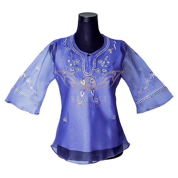 Ladies Barong - Blue -  Filipinana - Adults - Simpal Boutique