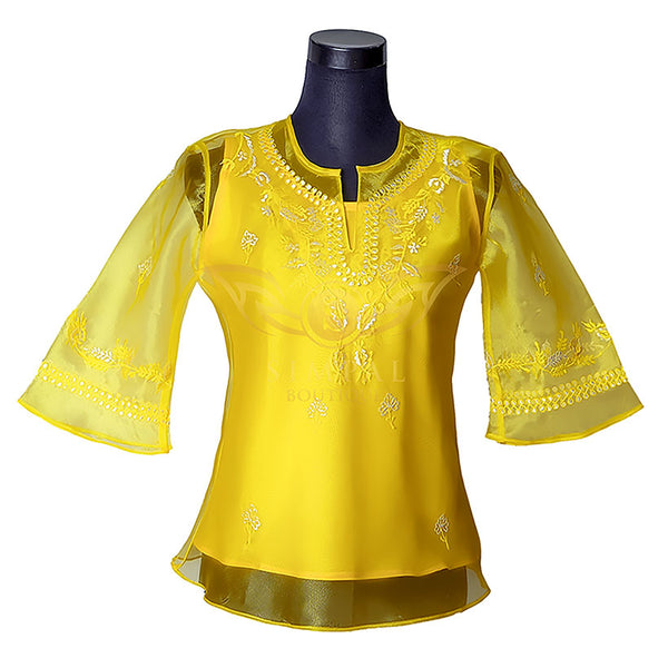 Ladies Barong - Yellow -  Filipinana - Adults - Simpal Boutique