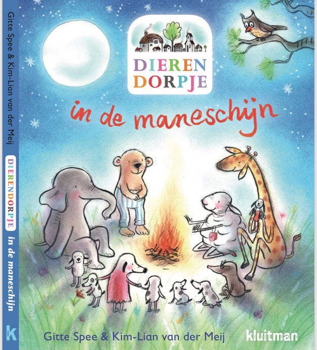 Dierendorpje in maneschijn