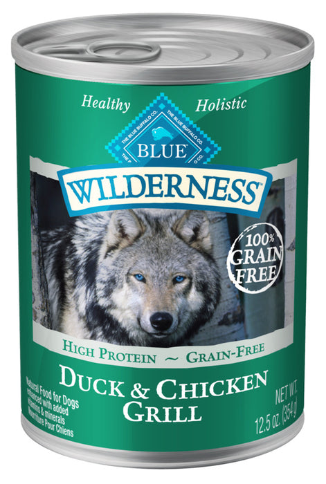 Blue Buffalo Wilderness Grain Free Duck and Chicken Grill Canned Dog Food