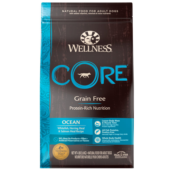 Wellness CORE Natural Grain Free Ocean Whitefish, Herring & Salmon Recipe Dry Dog Food
