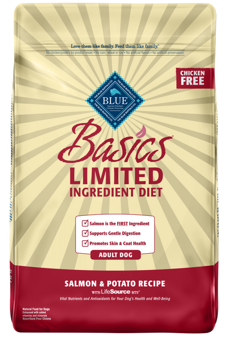 Blue Buffalo Basics Adult Salmon and Potato Recipe Dry Dog Food