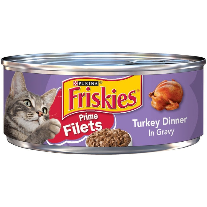 Friskies Prime Filets Turkey Dinner In Gravy Canned Cat Food