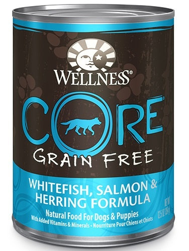 Wellness CORE Grain Free Natural Whitefish, Salmon and Herring Recipe Wet Canned Dog Food