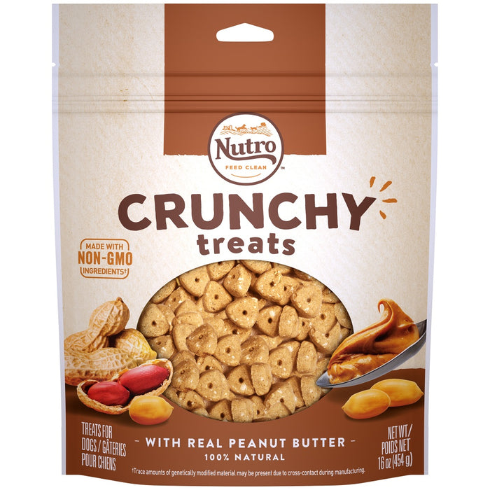 Nutro Crunchy Treats with Real Peanut Butter Dog Treats
