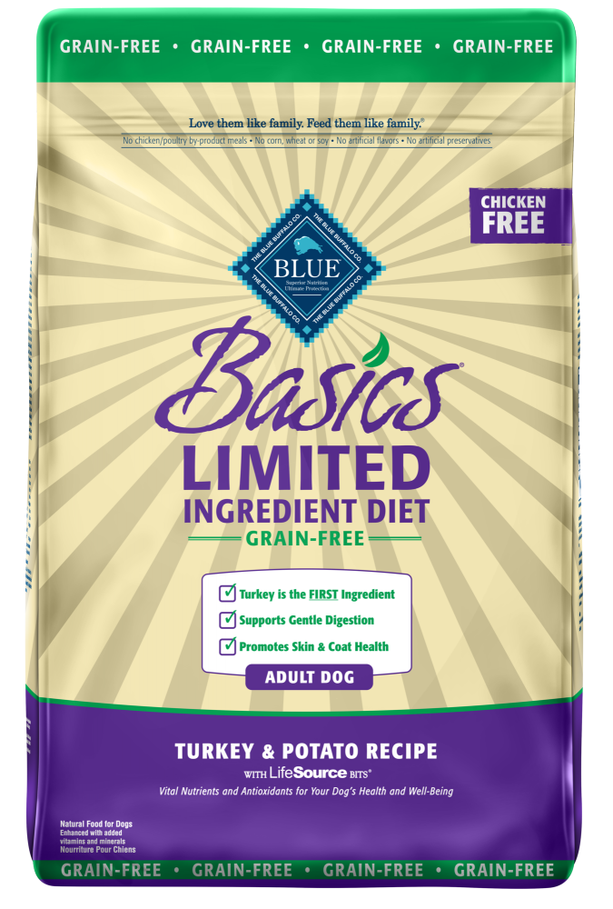 Blue Buffalo Basics Grain Free Adult Turkey and Potato Dry Dog Food