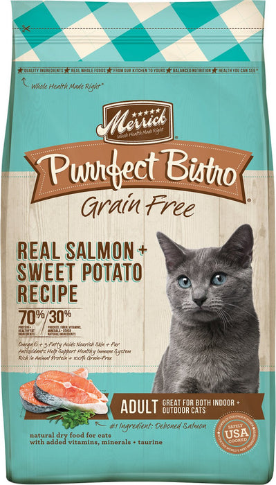 Merrick Purrfect Bistro Grain Free Real Salmon & Sweet Potato Recipe Dry Cat Food