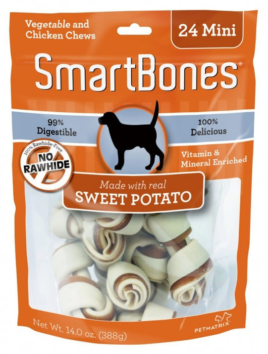 SmartBones Mini Sweet Potato Chew Bones Dog Treats