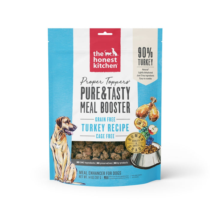 The Honest Kitchen Proper Toppers Grain Free Turkey Recipe for Dogs