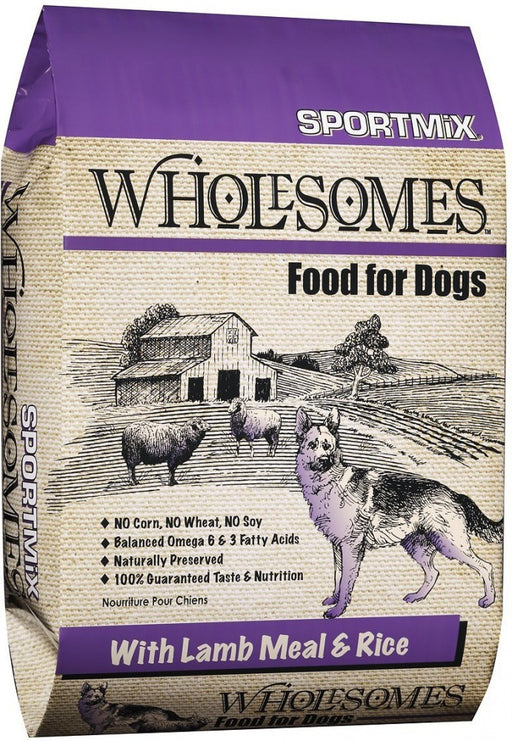 SPORTMiX Wholesomes Lamb Meal & Rice Recipe Dry Dog Food