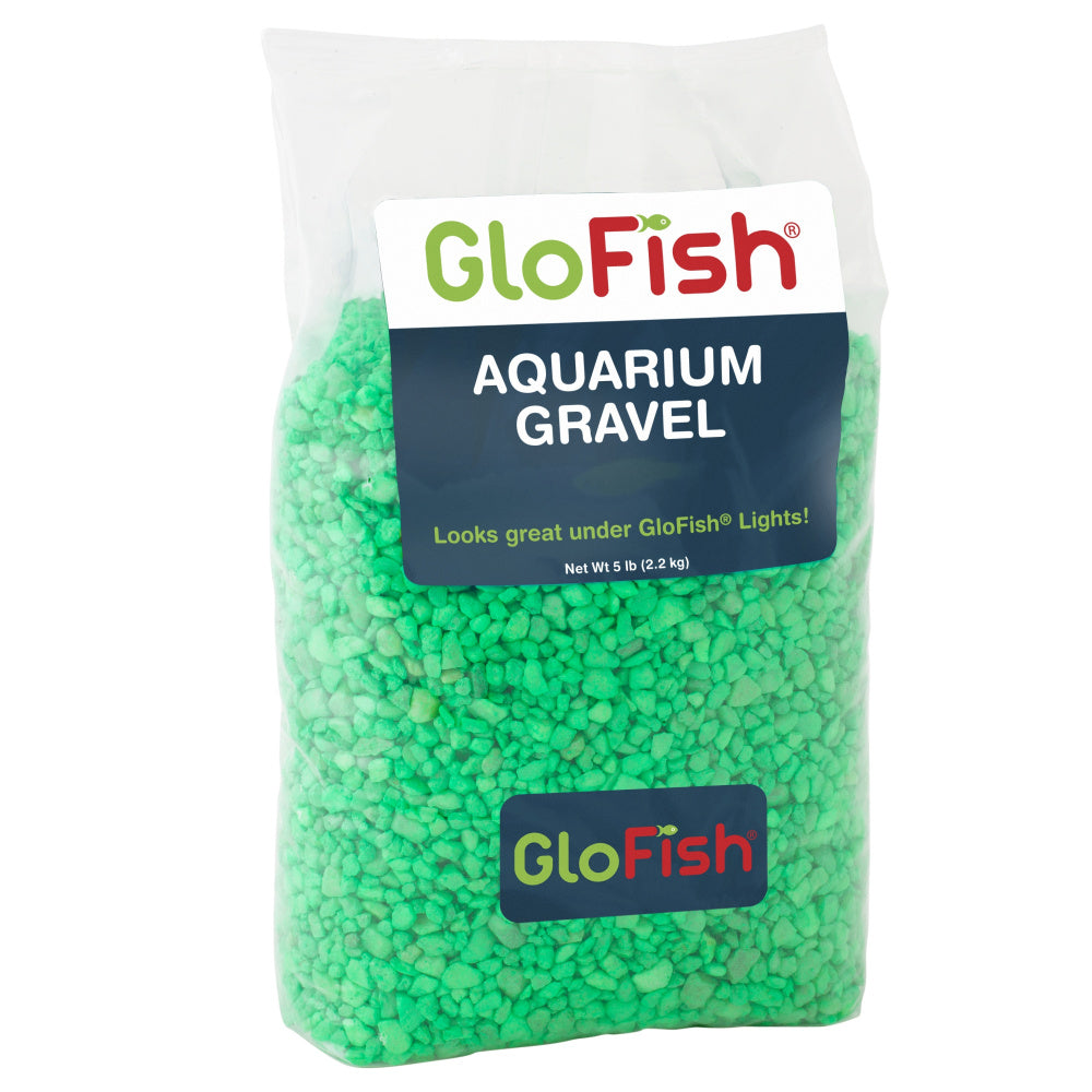 GloFish Aquarium Green Gravel