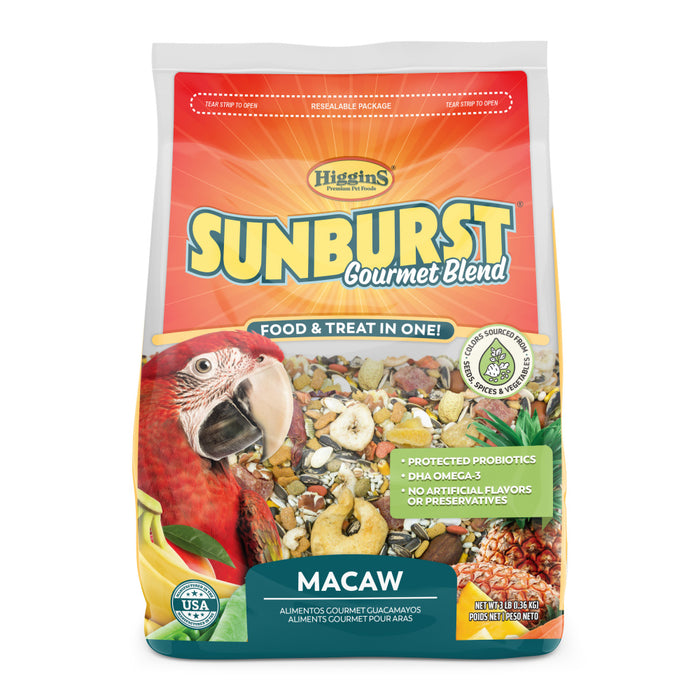Higgins Sunburst Gourmet Blend Macaw Food