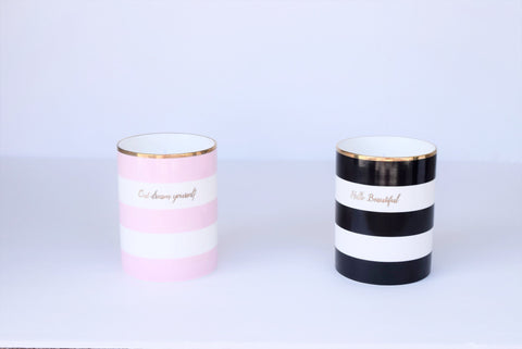 Shine Bright Striped Candle - One of A Kind Decor