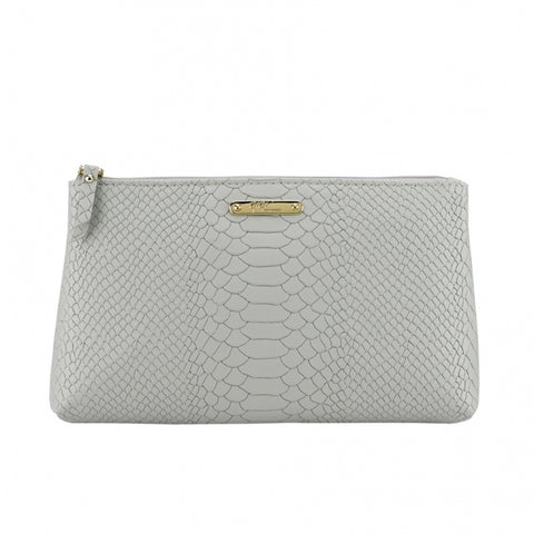Embossed Python Leather Cosmetic Case - One of A Kind Decor