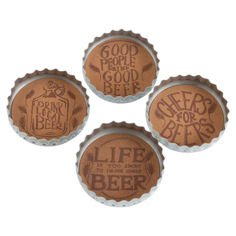 Beer Cap Coaster Set - One of A Kind Decor