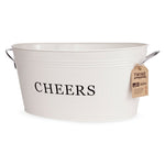 Galvanized Cheers Tub - One of A Kind Decor