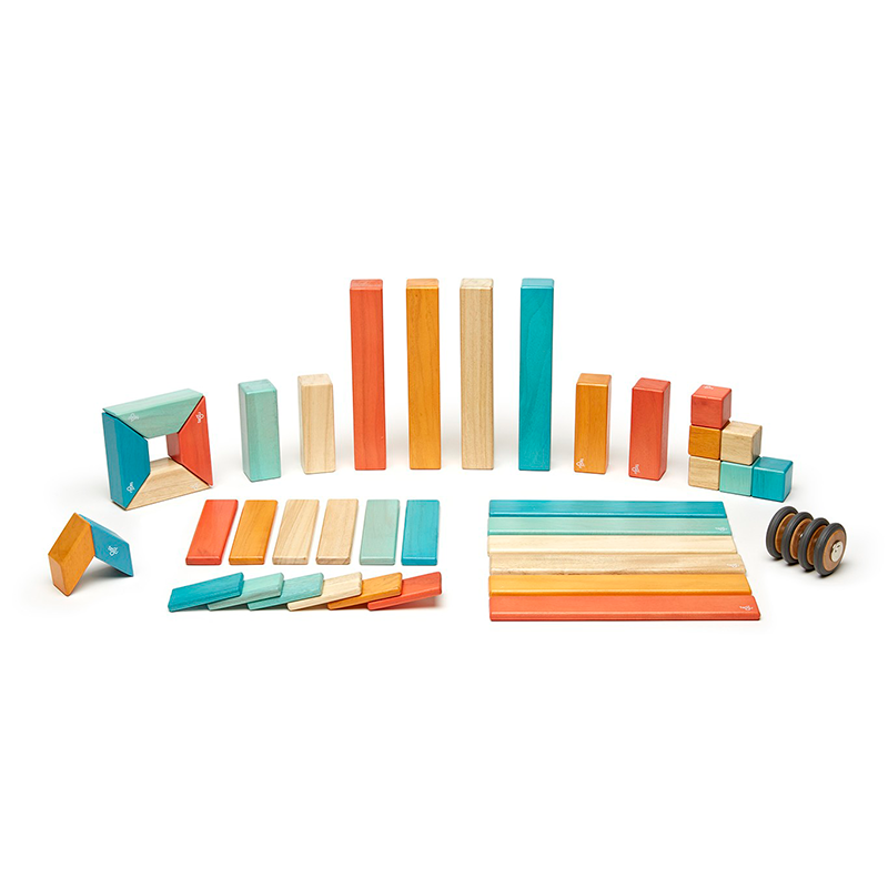 42-Piece Set <br>Magnetic Wooden Blocks <br>Tegu Classics