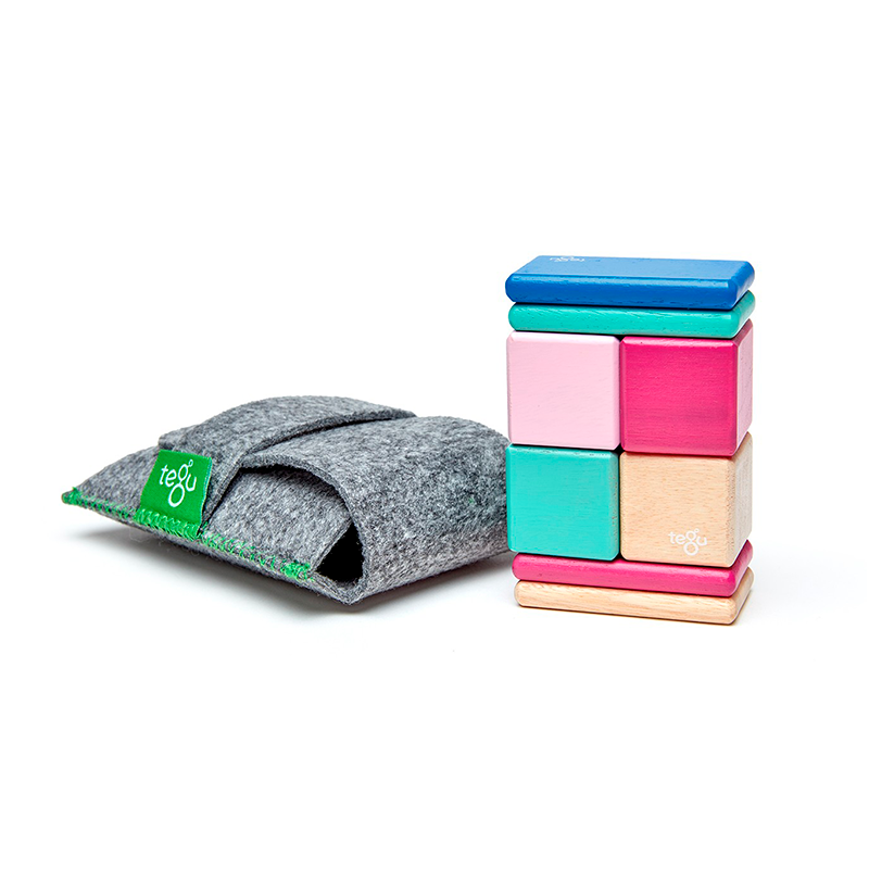 Original Pocket Pouch <br>Magnetic Wooden Blocks <br>8 pieces