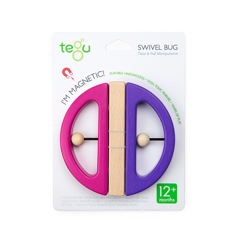 Swivel Bug <br>Tegu Baby and Toddler <br>1 piece, Rainbow