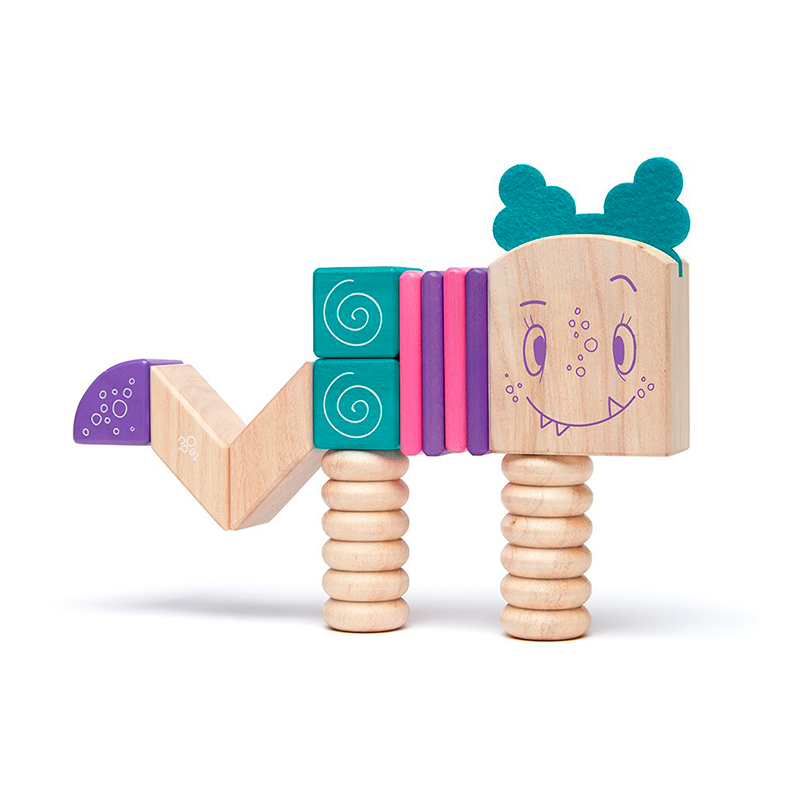 Marbles <br>Magnetic Wooden Blocks <br>Sticky Monsters, 18 pieces