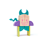 Pip <br>Magnetic Wooden Blocks <br>Sticky Monsters, 8 pieces