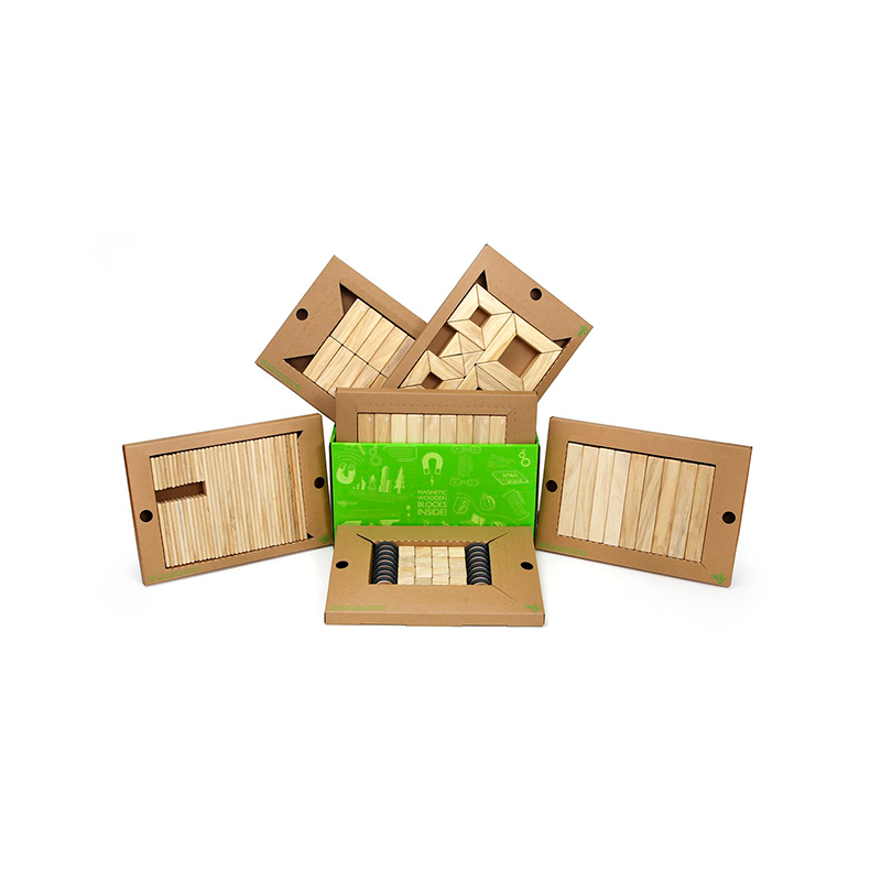 130-Piece Classroom Kit <br>Magnetic Wooden Blocks <br>Bulk Pack