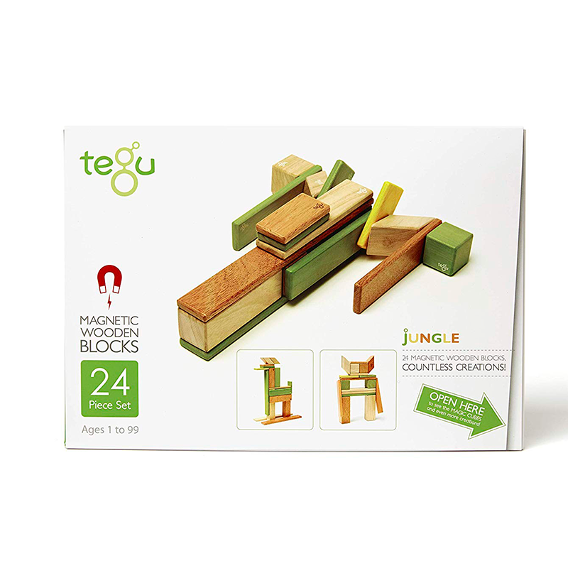 24-Piece Set <br>Magnetic Wooden Blocks <br>Tegu Classics