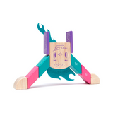 Finklebear <br>Magnetic Wooden Blocks <br>Sticky Monsters, 10 pieces